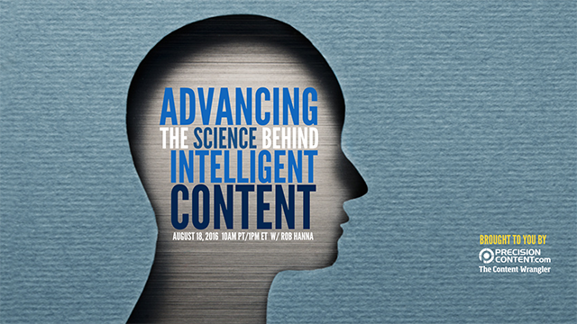 2016-0818 Advancing the Science Behind Intelligent Content SMALL