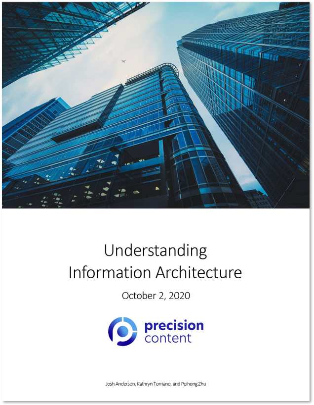 Understanding Information Architecture white paper by Precision Content